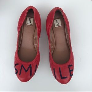 Ellen Degeneres Langston Red Smile Flats